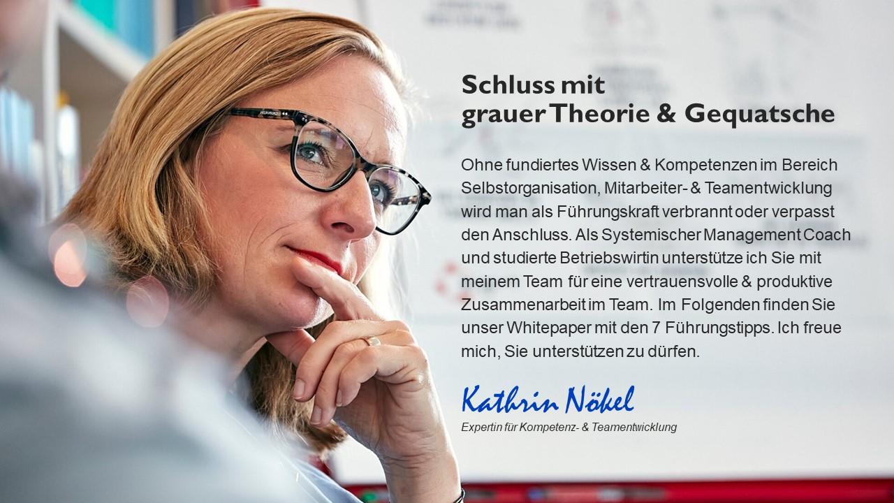 Führungskräfte-coaching, Coaching für Führungskräfte, Kathrin Nökel, Whitepaper 2